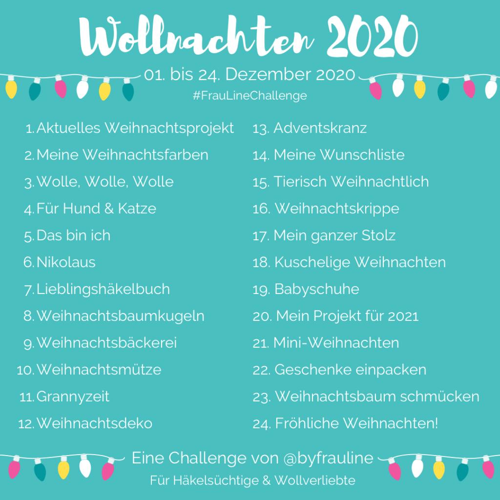 Frau Line Häkeln Challenge Wollnachten 2020 Häkeln Stricken Wolle