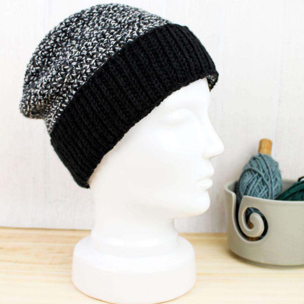 Frau Line Kostenlose Häkelanleitung Mütze mit Bündchen