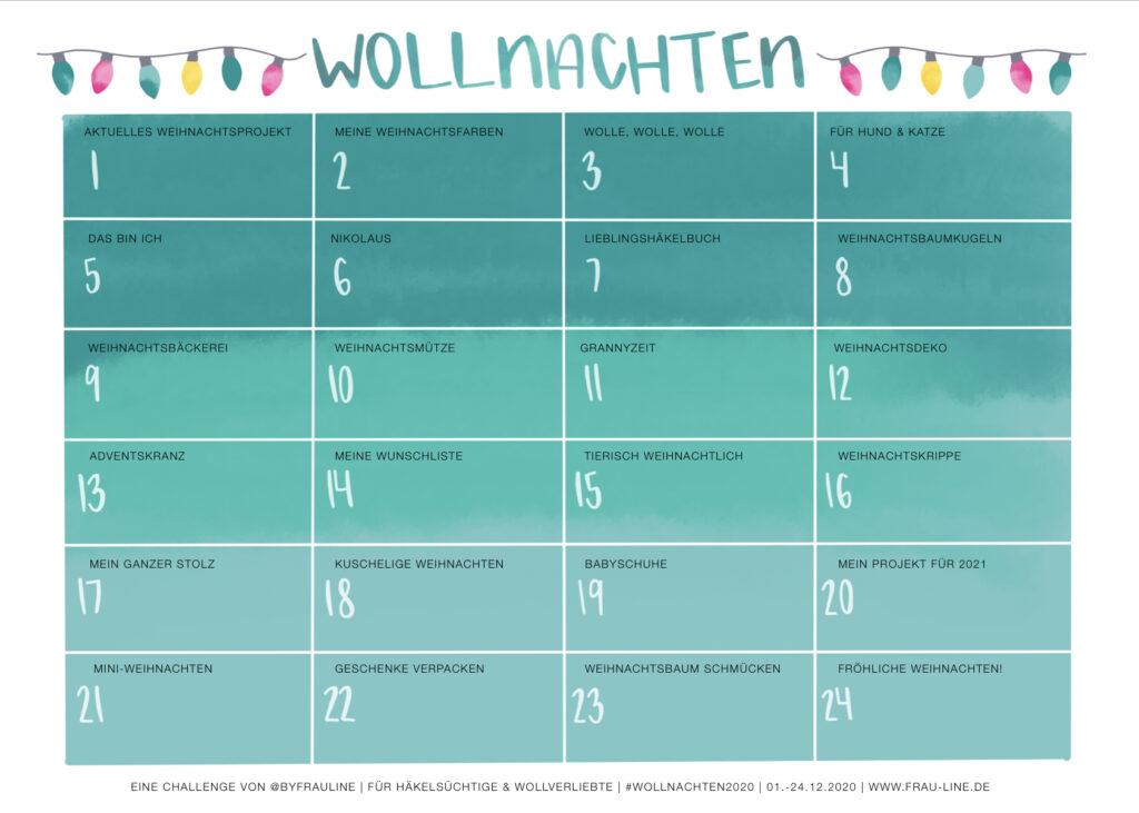 Frau Line Planer Wollnachten 2020