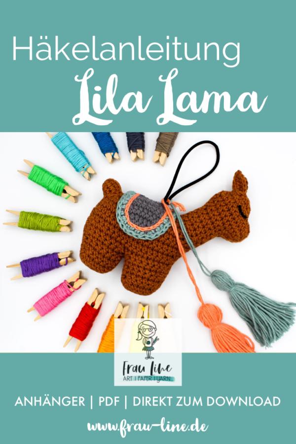 Pin Frau Line Häkelanleitung Lila Lama