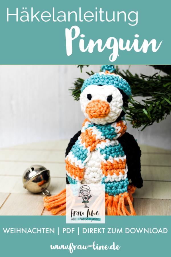 Pin Frau Line Häkelanleitung Weihnachtsbaumkugel Pinguin Amigurumi