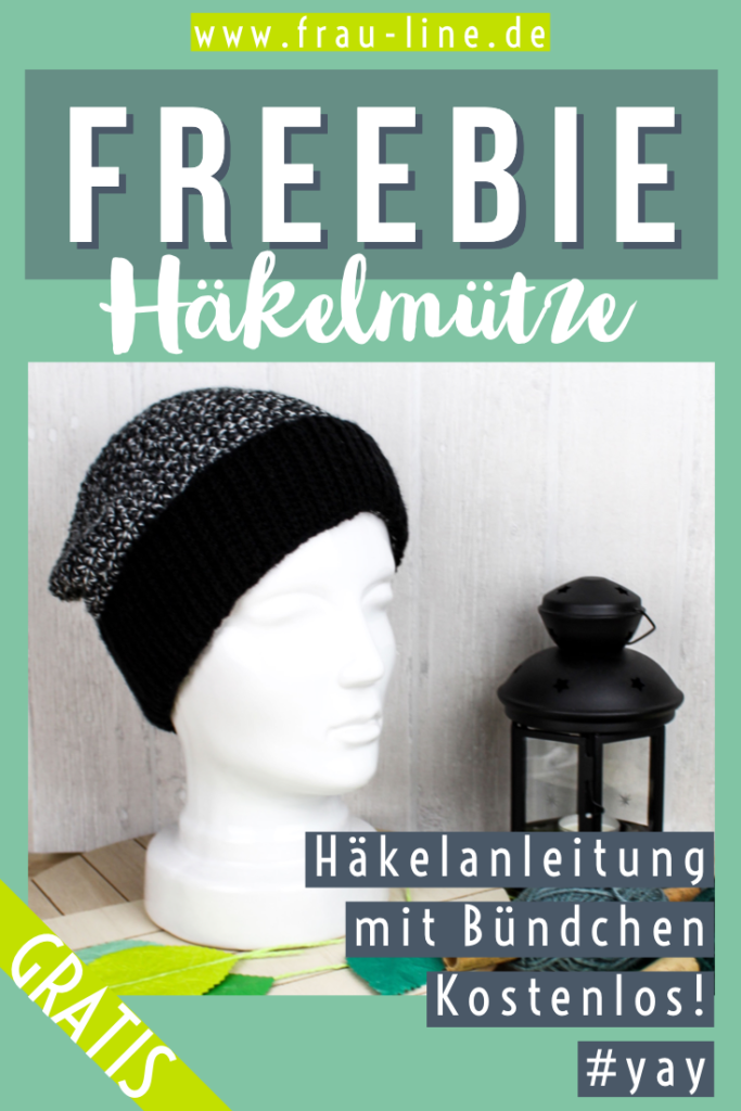 Pin Frau Line Kostenlose Häkelanleitung Mütze mit Bündchen