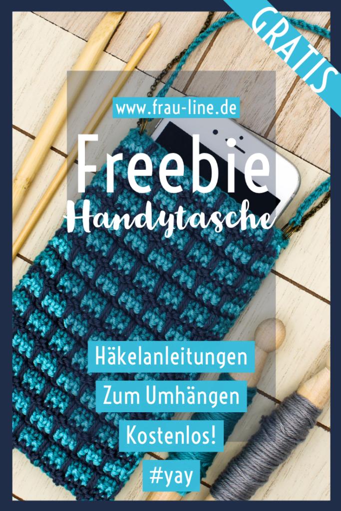 Pin Frau Line Anleitung gehäkelte Handyumhängetasche