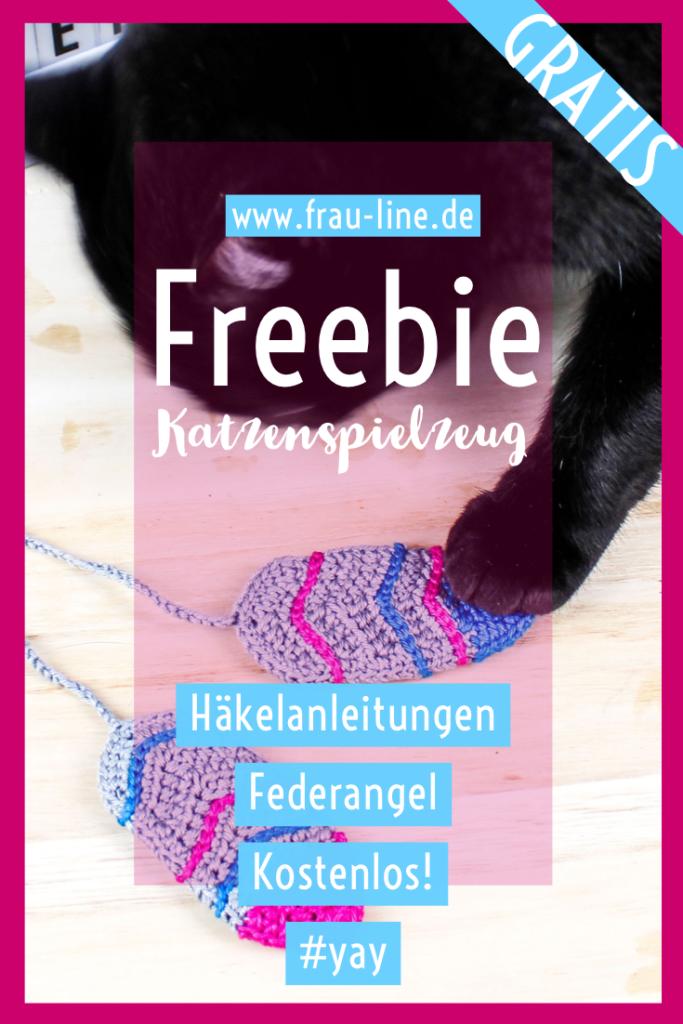 Pin Frau Line Kostenlose Anleitung Häkelanleitung Katzenspielzeug Federn