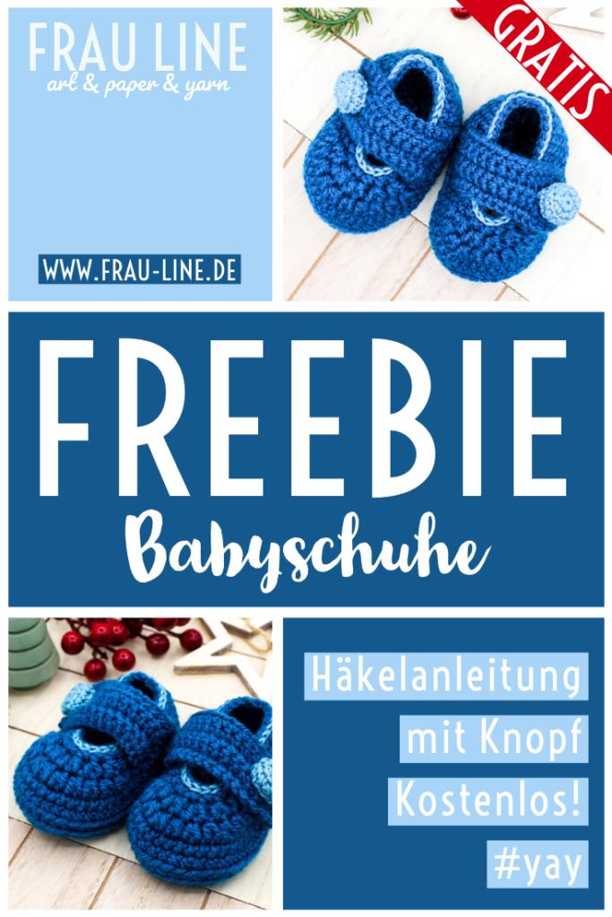 Pin Frau Line Kostenlose Häkelanleitung Babyschuhe mit Knopf