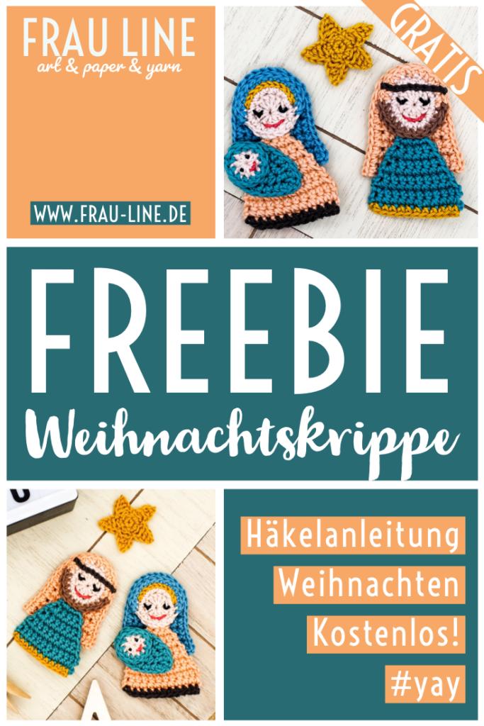 Pin Frau Line Kostenlose Häkelanleitung Weihnachtskrippe