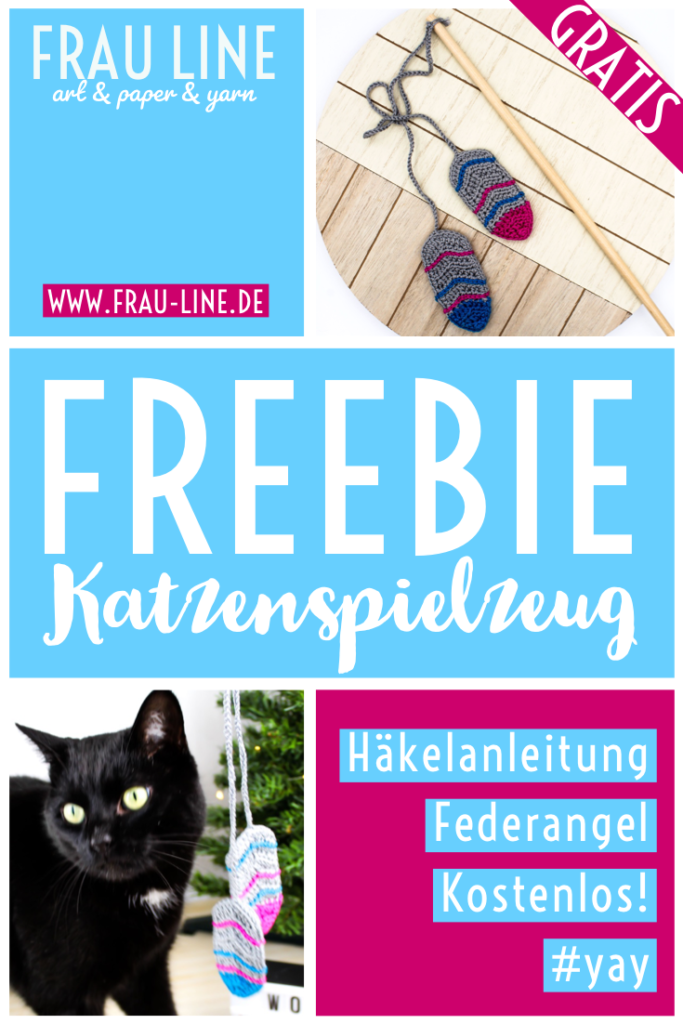 Pin Kostenlose Anleitung Katzenspielzeug häkeln Federn Angel