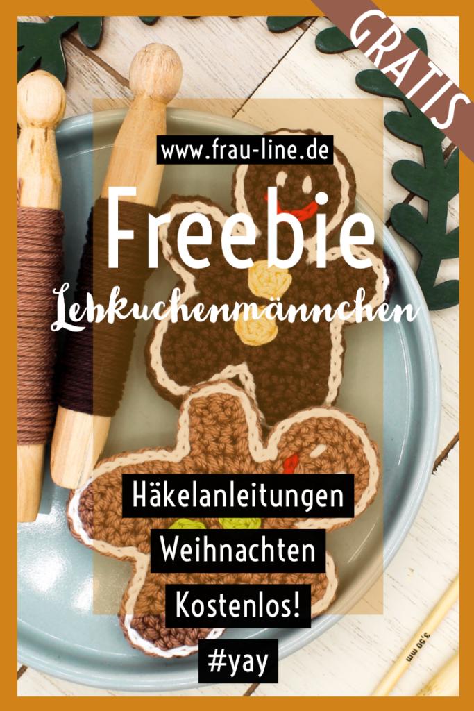 Pin Kostenlose Häkelanleitung Applikation Lebkuchenmann
