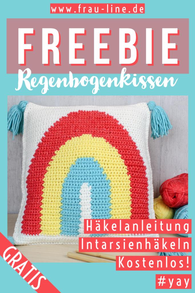 Pin Frau Line Anleitung Intarsien häkeln Regenbogen
