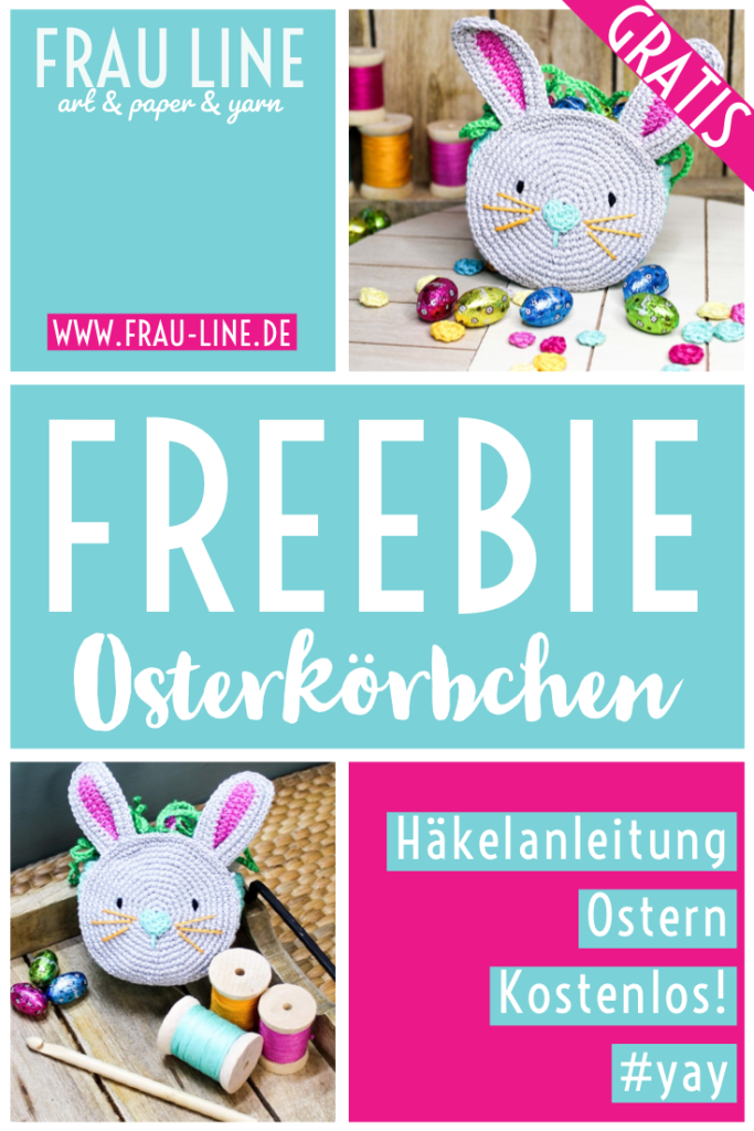 Pin Frau Line Anleitung kostenlos Osterkörbchen häkeln
