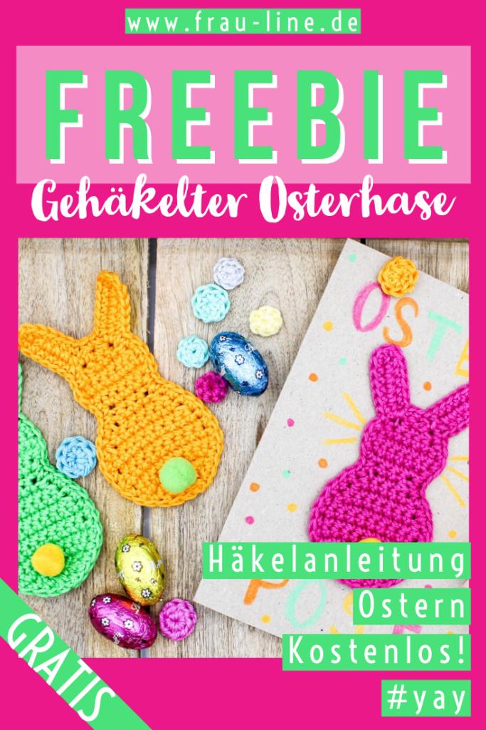 Pin Frau Line Gratisanleitung Häkelapplikation Osterhase
