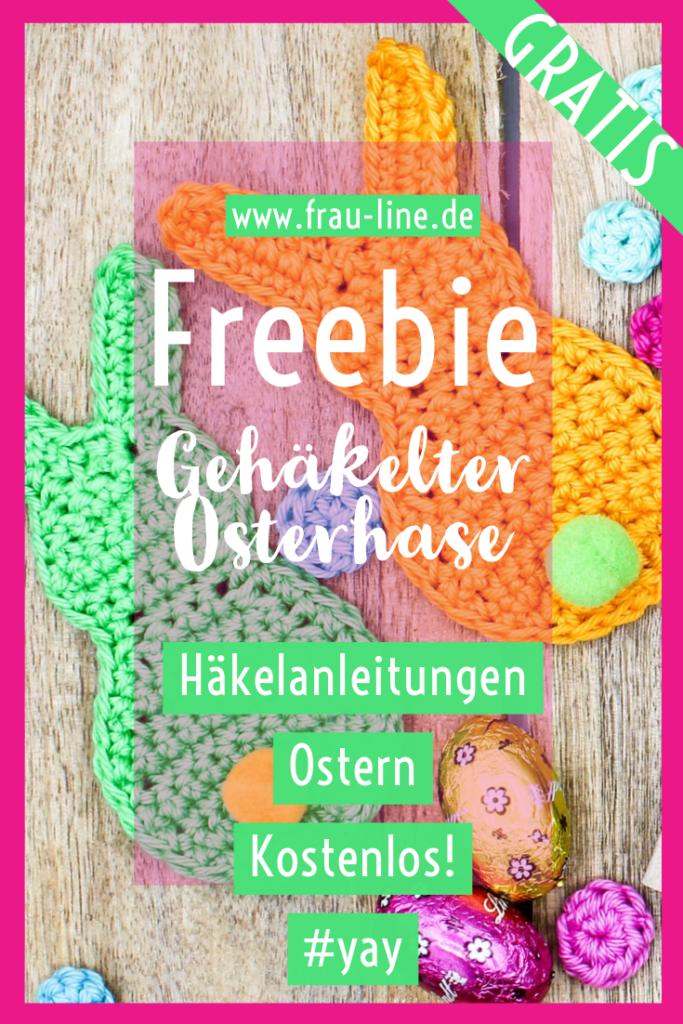 Pin Frau Line Kostenlose Anleitung Applikation Osterhase häkeln