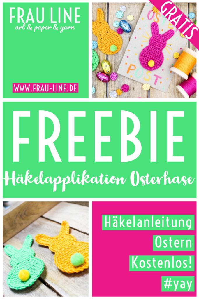 Pin Frau Line Kostenlose Häkelanleitung Häkelapplikation Osterhase