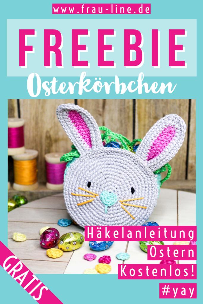 Pin Frau Line Kostenlose Häkelanleitung Osterkörbchen häkeln