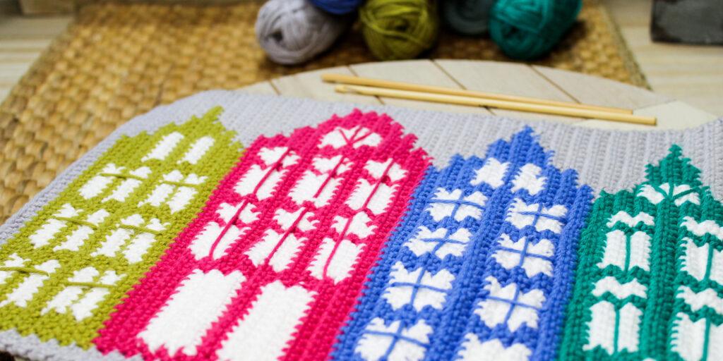 Kostenloses Tutorial Motiv häkeln Tapestry