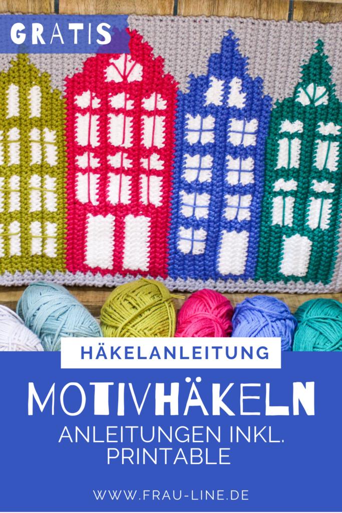 Pin Frau Line Häkelanleitung Motivhäkeln Häuser Amsterdam