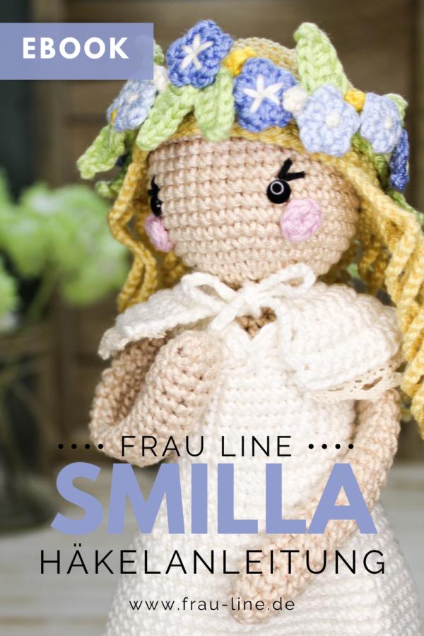 Pin Frau Line eBook Häkelanleitung Häkelpuppe Smilla Amigurumi